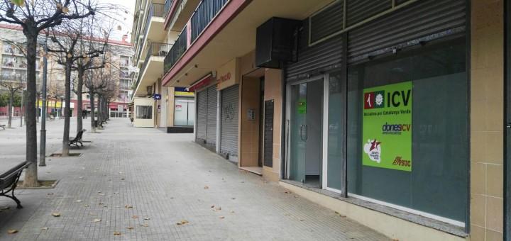 Exterior de la seu d'ICV, passatge Mercè Rodoreda, núm 4