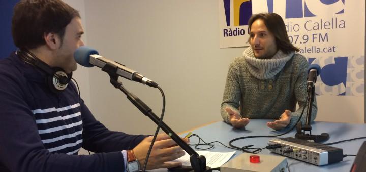 Yannis Papangeli durant l'entrevista a l'InfoMigdia