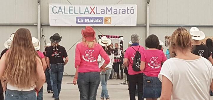 La marató de country ha recaptat 2100 euros per la Marató