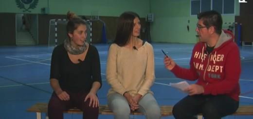 Mar Lamadrid i Judit Valls durant l'entrevista al programa La Banqueta de RCTV