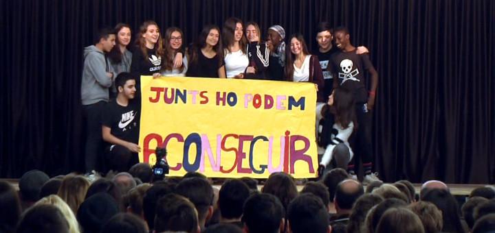 Alumnes de l'Escola Pia al Fòrum Xarxa Joves per la Convivència