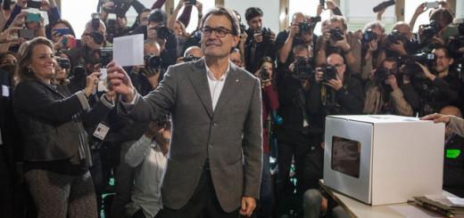 Artur Mas, el 9N, pel qual dilluns serà jutjat