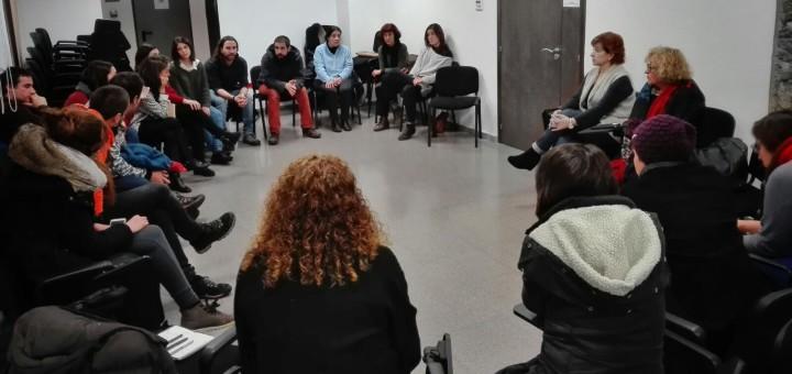 Assemblea Extraordinària de Calella x Refugiats celebrada ahir al vespre, Ajuntament Vell