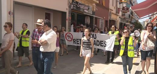 Torres, a l'esquerra de la imatge, va assitir a la manifestació contra les retallades en sanitat del 2013