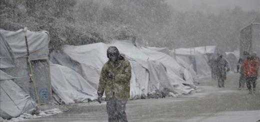 Camp de refugiats de Moria, a la illa de Lesbos (Font: EFE / Stratis Balaskas)
