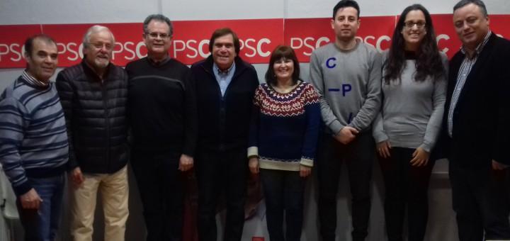 Composició de la nova executiva del PSC de Calella