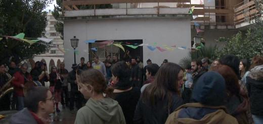 Festa d'inauguració del Centre Social Ocupat la Bruna, finals de gener