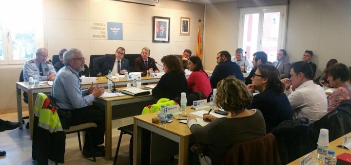 Reunió del Consell d'Alcaldes presidida pel conseller d'Interior, Jordi Jané