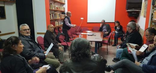 Participants a la reunió de constitució de la Plataforma Marea Blanca de l'Alt Maresme i la Selva