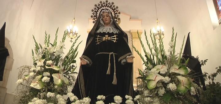 Arxiu - Imatge de la Mare de Déu dels Dolors a l'exposició de passos a la Capella de Sant Quirze i Santa Julita
