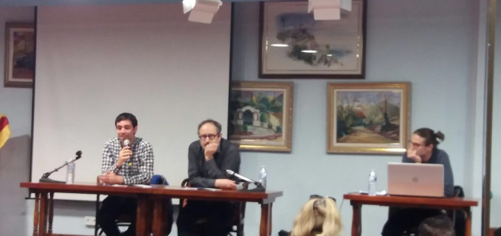 Eudald Calvo, Antonio Baños i Jan Catà, divendres Cooperativa l'Amistat
