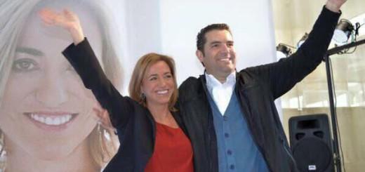 Carme Chacón i Xavier Amor