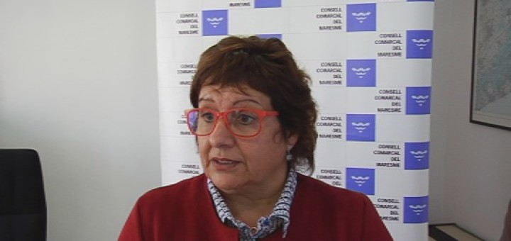 La Consellera Dolors Bassa va explicar a Mataró, la setmana passada, que hi havia 136 mentors apuntats al Maresme. Cap d'ells de Calella (Foto: Mataró Ràdio)