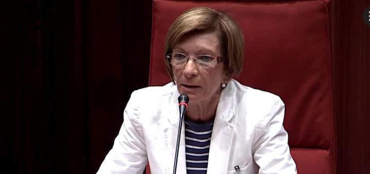 Imatge recent de Núria Constans en una compareixença al Parlament
