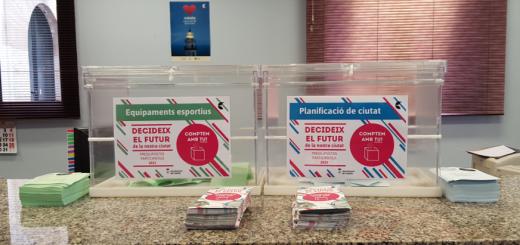 Urnes de recollida de votacions pels Pressupostos Participatius, en una imatge d'arxiu
