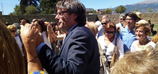 El president Puigdemont en una ballada de sardanes a la Cerdanya (Foto: Jordi Pardinilla /Nació Digital)