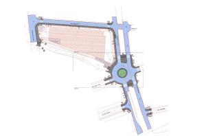 Detall del projecte d'urbanització de l'entorn del nou supermercat promogut per Mercadona