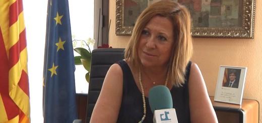 Montserrat Candini durant l'entrevista amb RCTV