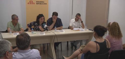 Els regidors d'ERC durant un acte del partit