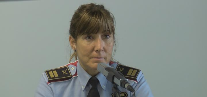 La comissària Cristina Manresa en un moment de l'entrevista a RCTV