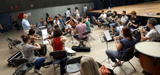 """Assajos previs a la representació de l'òpera escenificada """"Cavalleria Rusticana"""""""