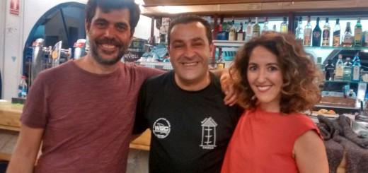 Òscar Muñoz, actor Toni Salas, copropietari Betsy Túrnez, actriu. Ahir a La Gavina