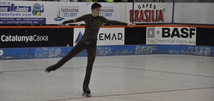 Eloi Canals durant l'exercici  lliure al Campionat d'Espanya (FOTO: Pol Benach)