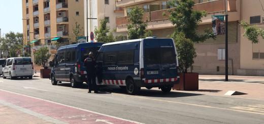 Unitats dels Mossos d'Esquadra a la Riera Capaspre, aquest matí