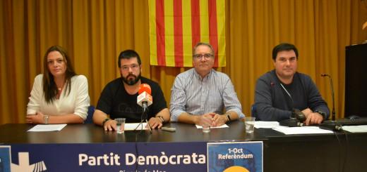 Roda de premsa PDeCat - Font Ràdio Pineda
