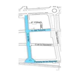 mapa zona blava turisme sud