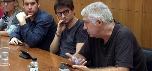 Sebastián Tejada dilluns durant la sessió extraordinària del ple
