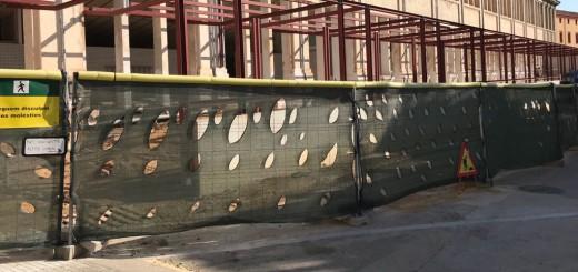 Imatge exterior de la Fàbrica Llobet-Guri, des del carrer Sant Pere