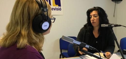 La presidenta de Dones de Calella en una entrevista a Ràdio Calella TV