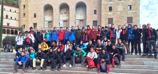 Participants de l'última edició de la Caminada per la Pau de l'Escola Pia de Catalunya