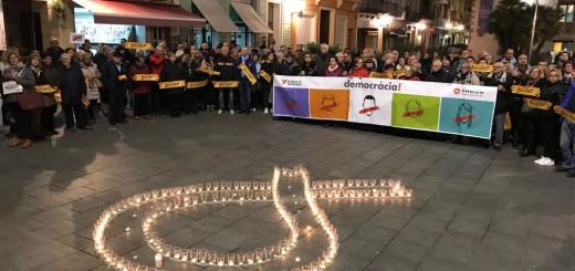 Concentració per  demanar l'alliberament de Jordi Sánchez i Jordi Cuixart