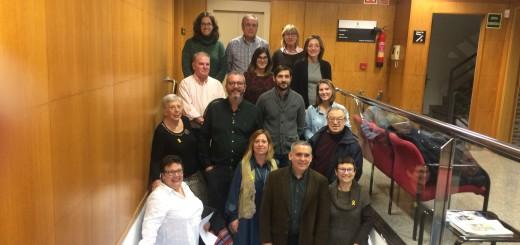 Representants de les entitats beneficiàries del Fons de Solidaritat i Cooperació de Gestvia, avui