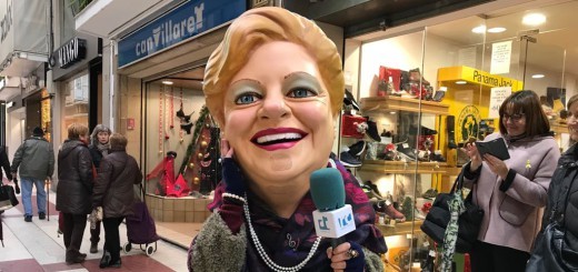 La Grossa amb el micro de RCTV