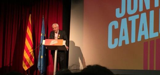 Ferran Mascarell, ex delegat de la Generalitat a Madrid, a l'acte de Junts per Catalunya