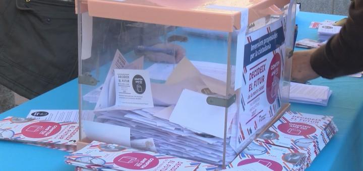 Urna de votacions pel Procés de Pressupostos Participatius, el novembre passat