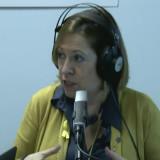 Montserrat Candini, aquest matí als estudis de Ràdio Calella Televisió