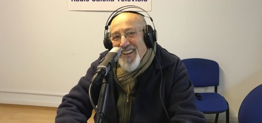 Jaume Pruna, aquest matí, als estudis de Ràdio Calella Televisió