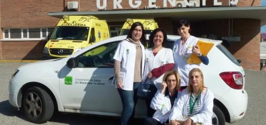 Equip del servei d'hospitalització al domicili de la Corporació de Salut del Maresme i la Selva