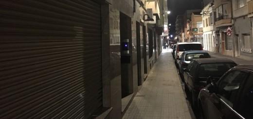 Carrer Costa i Fornaguera, aquest vespre