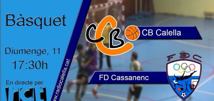 [Vídeo] [Transmissió Esportiva] Bàsquet Sènior: CB Calella – FD Cassanenc