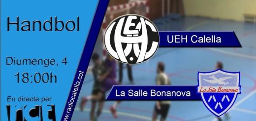 [Vídeo] [Transmissió Esportiva] Handbol: UEH Calella – La Salle Bonanova