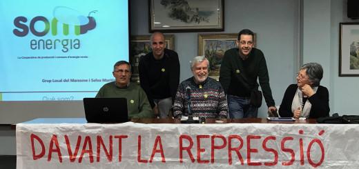 """Membres de """"Som Energia"""" aquesta tarda a la presentació a la Cooperativa l'Amistat"""