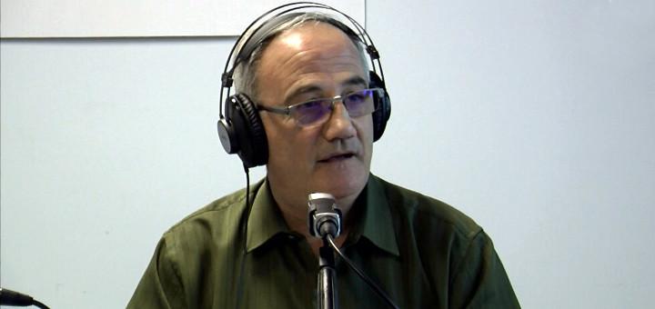 Josep Miracle als estudis de Ràdio Calella TV