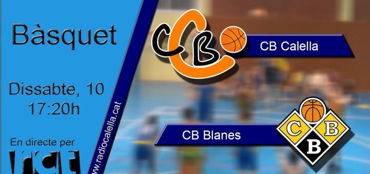 [Vídeo en directe] [Transmissió Esportiva] Bàsquet: CB Calella – CB Blanes