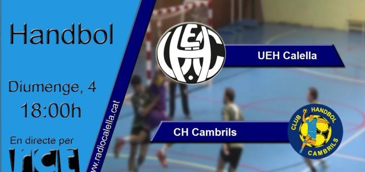 [Vídeo] [Transmissió Eportiva] Handbol: UEH Calella – CH Cambrils