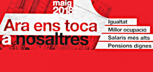 Cartell de la manifestació de l'1 de maig. Font: UGT